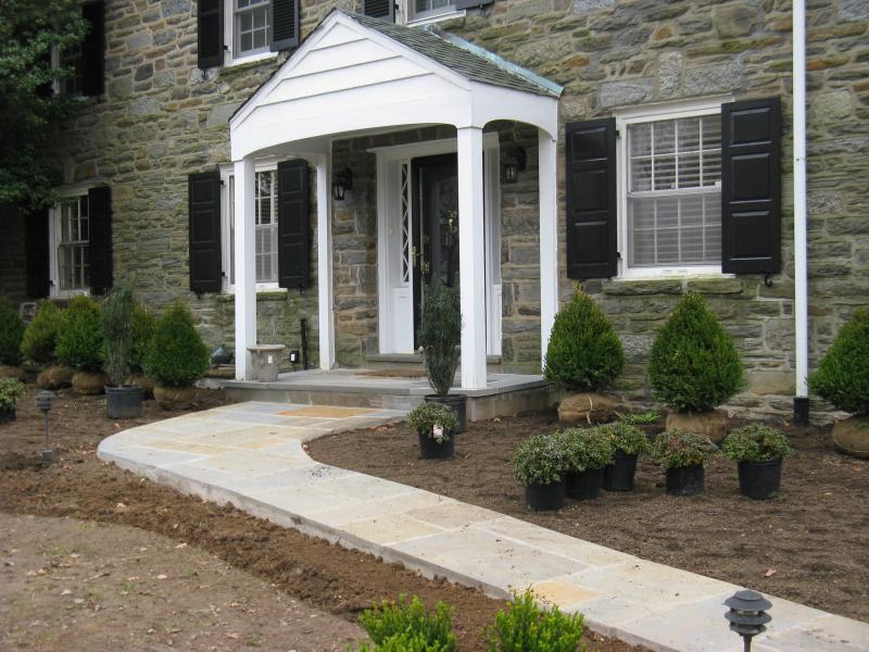 Flagstone Walkway and Landing